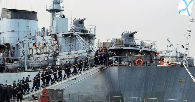 Russian sailors leaving France without warship