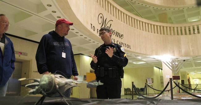 Satanic display at Florida Capitol damaged
