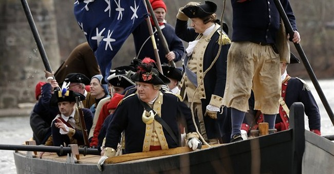 Washington crosses Delaware _ with better weather