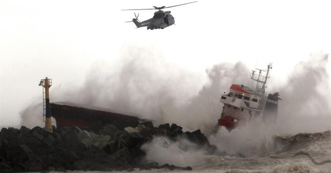 Spanish cargo ship slams into jetty in SW France