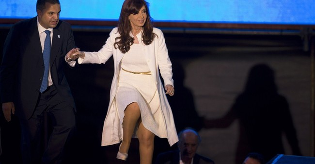 Argentina's president suffers fractured ankle