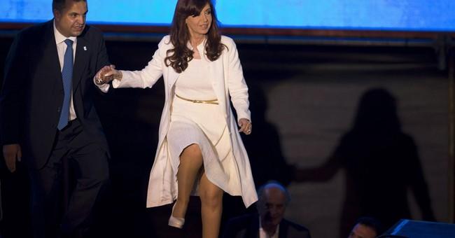 Argentine president broke ankle by slipping on wet floor