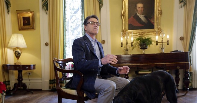 Texas' Perry hopes jobs record can trump 'Oops'