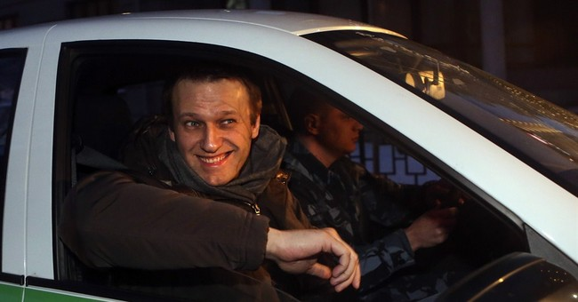 Conviction of Putin foe sets off protest in Moscow