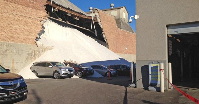 Cars buried in salt after Morton storage collapse