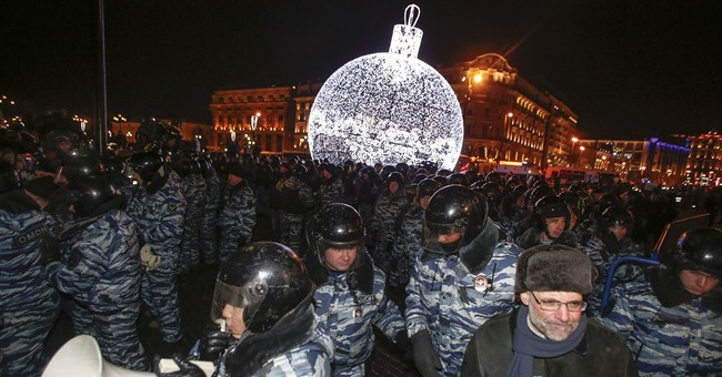 Protesters detained after rally near Moscow's Red Square