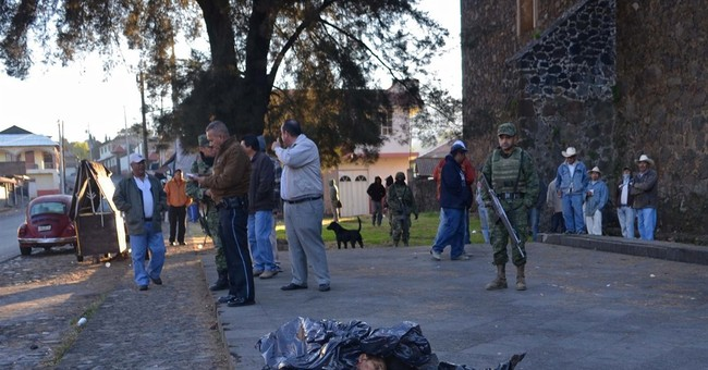 Police find 4 human heads in western Mexico