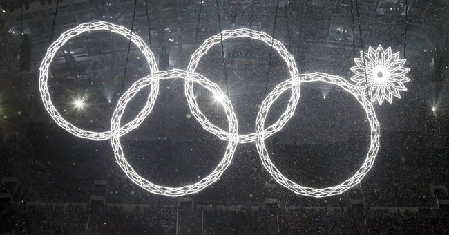 Russian TV shows doctored video of Olympic rings