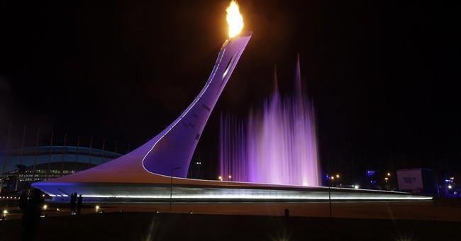 SOCHI SCENE: Lighting the torch