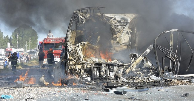 Bus, truck collide in Argentina, killing 18 people