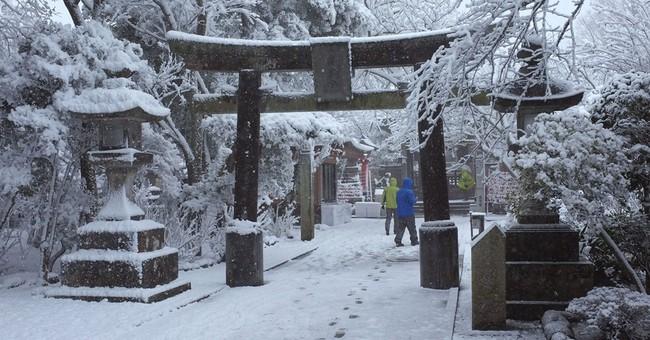 Tokyo hit by rare heavy snowfall; trains delayed