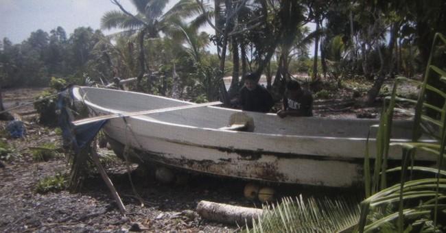 Salvador sea survivor flies out of Pacific island