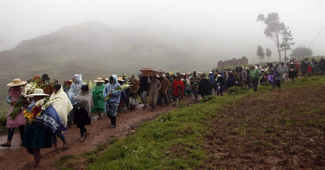 Search halted at Bolivia village hit by mudslide