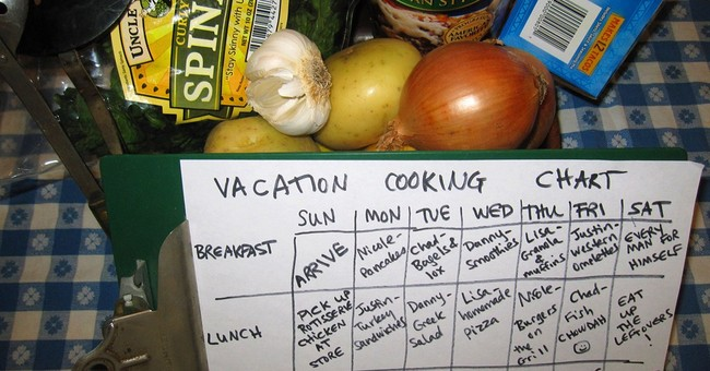 Food for thought: Group cooking on vacation