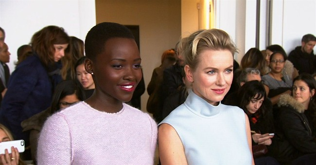 Lupita Nyong'o, main attraction at Calvin Klein