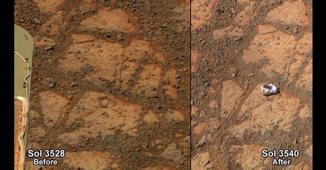Mystery of  'jelly doughnut' Martian rock solved