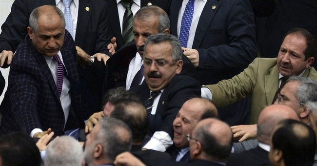 Turkish legislators brawl over disputed bill
