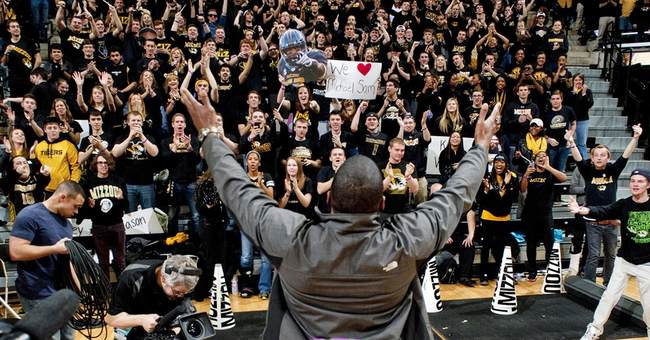 Sam receives standing ovation at basketball game