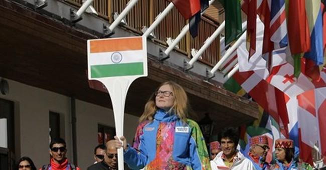 India's flag unfurled at Sochi Olympic village