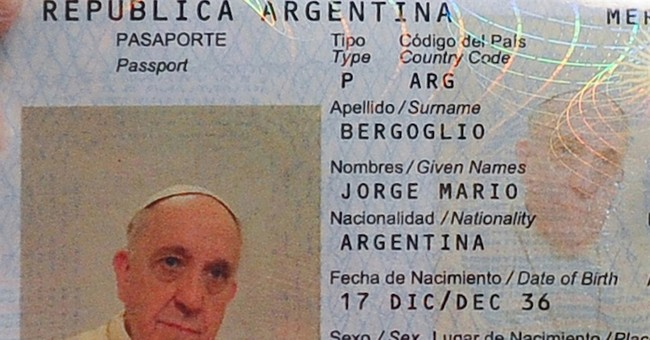 Pope Francis fingerprinted _ to renew passport