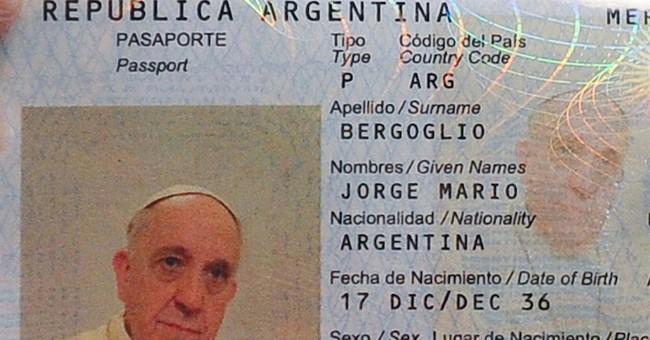 Pope Francis fingerprinted _ to renew passport