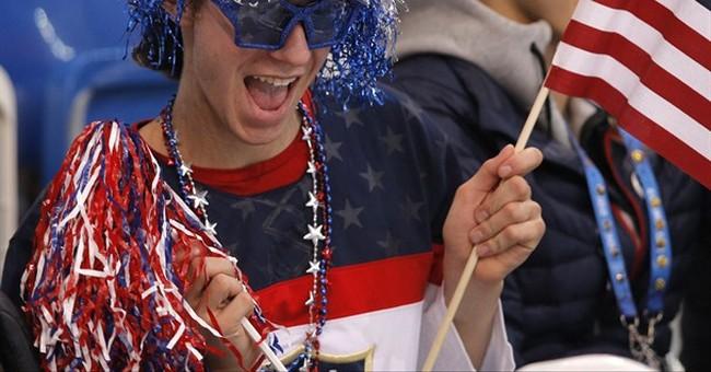 SOCHI SCENE: Jason Brown's patriotic attire