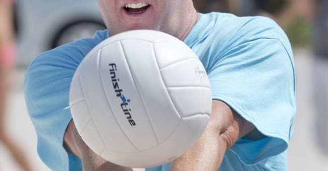 Chefs and swimsuit models volley for charity