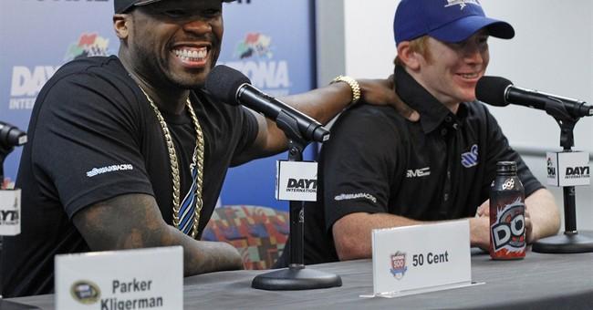 50 Cent back at Daytona looking for a kiss