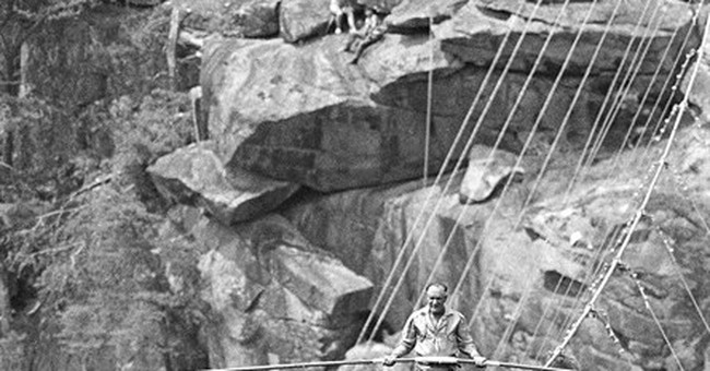 High-wire walker sets sites on Georgia gorge