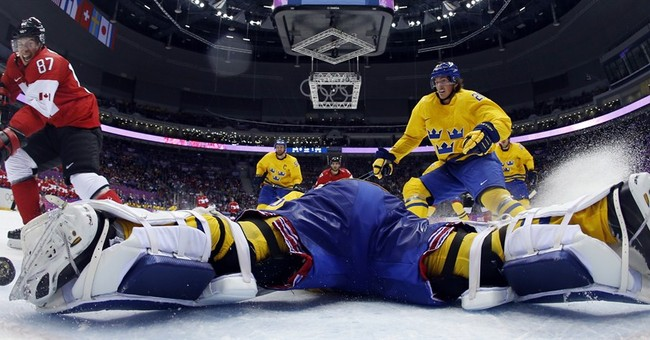 SOCHI SCENE: Crosby's goal up close