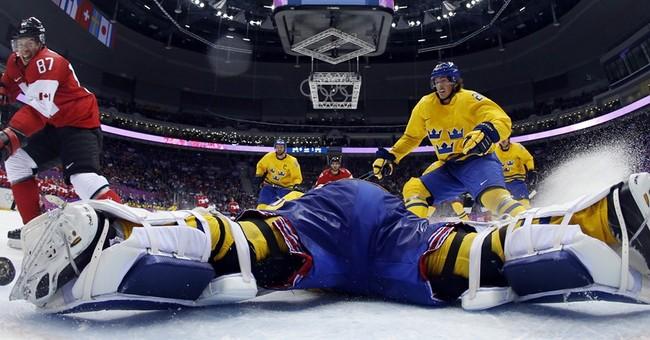 SOCHI SCENE: Crosby's goal up close