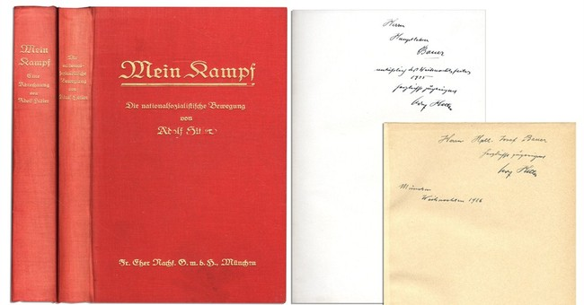'Mein Kampf' signed by Hitler up for auction in LA