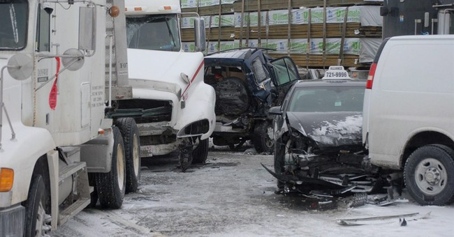 Snow squalls cause 96-car pileup outside Toronto