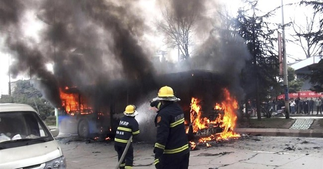 Police: Fatal southwest China bus fire was arson