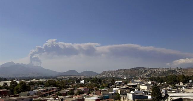 Guatemala's Pacaya volcano spews rock, ash
