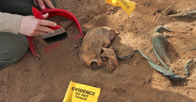 Skeletons uncovered in mass graves in Somalia