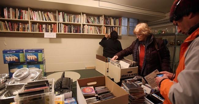 Books among items at Elmore Leonard estate sale