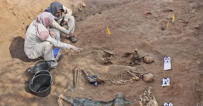 Skeletons uncovered in mass graves in Somalia