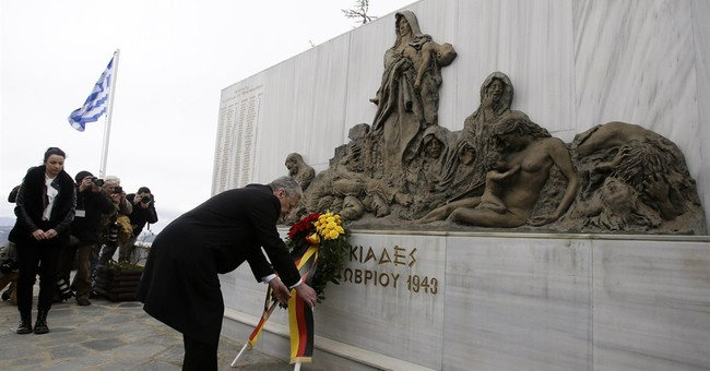 German president visits massacre site in Greece