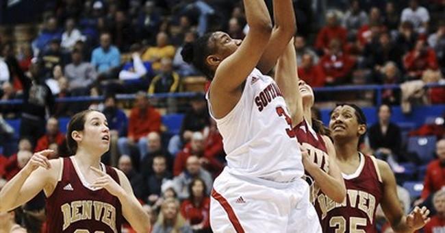 SDakota women top Denver 82-71 for trip to NCAA