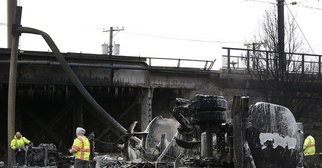 New Jersey tanker crash delays evening commutes