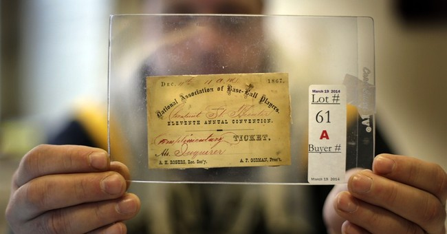 Baseball auction offers ticket to 1867 convention