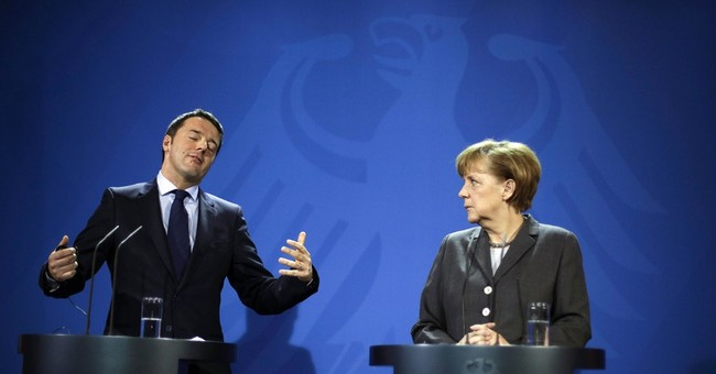 Merkel backs Italy's new PM on economic reforms