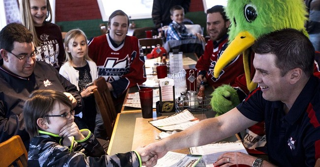 Boy, 11, signs 1-day deal with pro hockey team