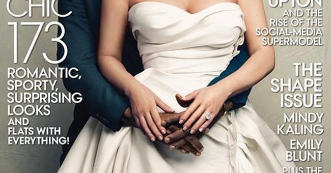 Kim Kardashian and Kanye West cover Vogue magazine