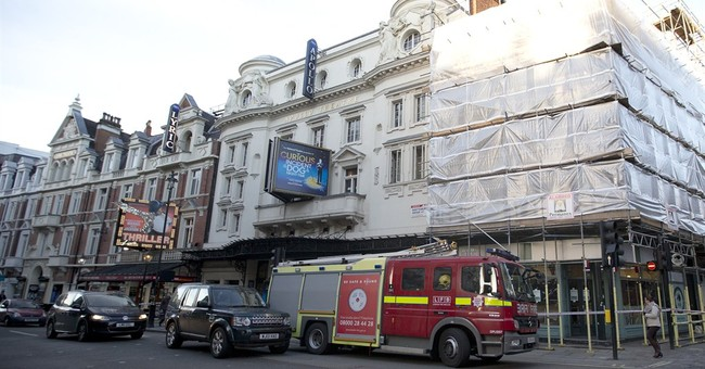 Old cloth ties blamed for theater ceiling collapse