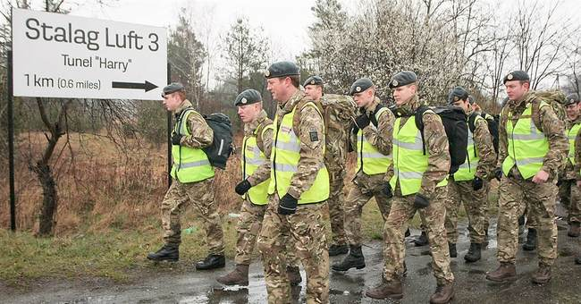 Officers march on Great Escape anniversary