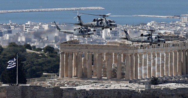 Police close off Athens center for military parade