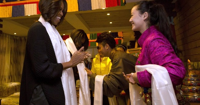 Michelle Obama's China trip takes on Tibetan theme