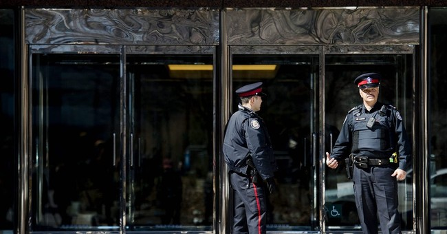 4 people stabbed at Canada office building